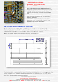 Download Bifold Rolfe Industrial doors Technical Data Sheet